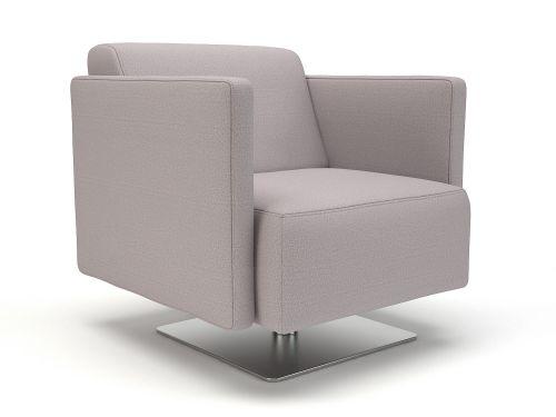 Napa Slim Arm 75cm Wide Swivel Armchair Linen Fabric