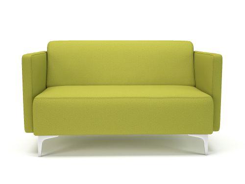 Napa Slim Arm 125cm Wide Sofa Citron Fabric Chrome Feet
