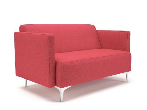 Napa Slim Arm 125cm Wide Sofa Cycle Fabric Chrome Feet