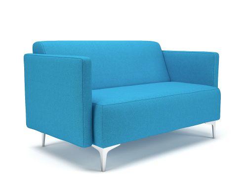 Napa Slim Arm 125cm Wide Sofa Everlasting Fabric Chrome Feet
