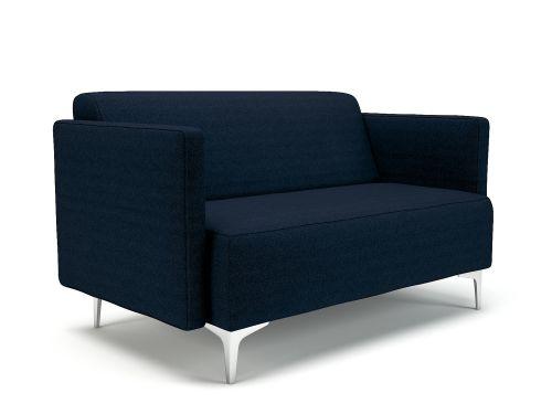 Napa Slim Arm 125cm Wide Sofa Forward Fabric Chrome Feet