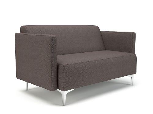 Napa Slim Arm 125cm Wide Sofa History Fabric Chrome Feet