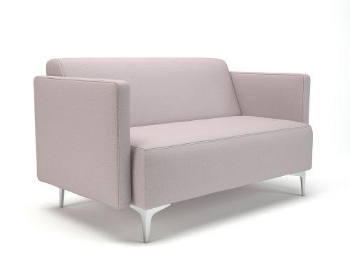 Napa Slim Arm 125cm Wide Sofa Linen Fabric Chrome Feet
