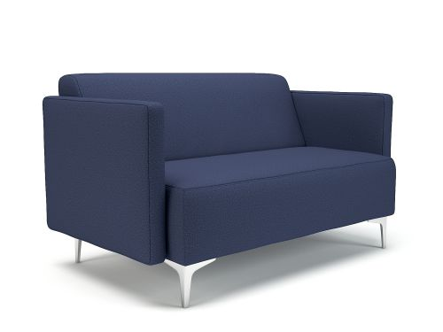 Napa Slim Arm 125cm Wide Sofa Poppy Fabric Chrome Feet