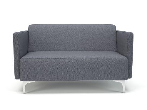 Napa Slim Arm 125cm Wide Sofa Present Fabric Chrome Feet