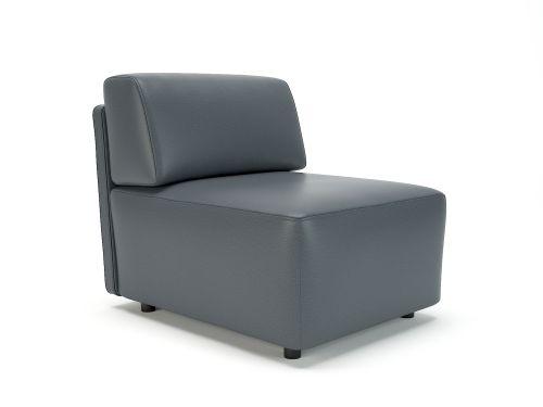 Loomis 65cm Wide Modular Unit Atlantic Faux Leather Standard Feet