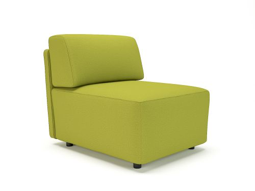 Loomis 65cm Wide Modular Unit Citron Fabric Standard Feet