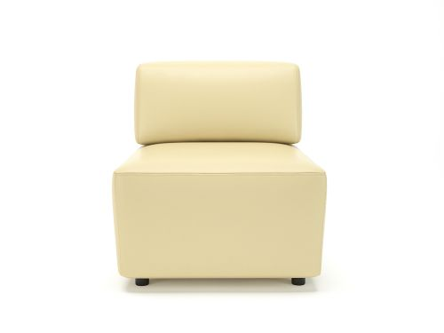 Loomis 65cm Wide Modular Unit Cream Faux Leather Standard Feet