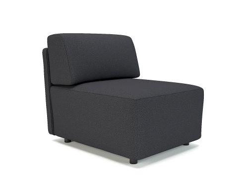 Loomis 65cm Wide Modular Unit Ebony Fabric Standard Feet