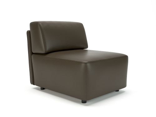 Loomis 65cm Wide Modular Unit Mocha Faux Leather Standard Feet