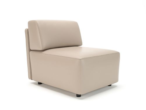 Loomis 65cm Wide Modular Unit Taupe Faux Leather Standard Feet