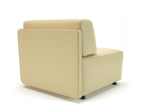 Loomis 87cm Wide Corner Unit Cream Faux Leather Standard Feet