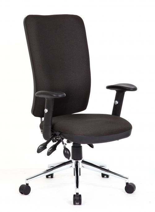 Chiro High Back Chair with Arms Black OP000006