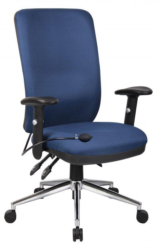 Chiro High Back Chair with Arms Blue OP000007