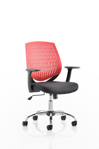 Dura Task Operator Chair Red With Arms