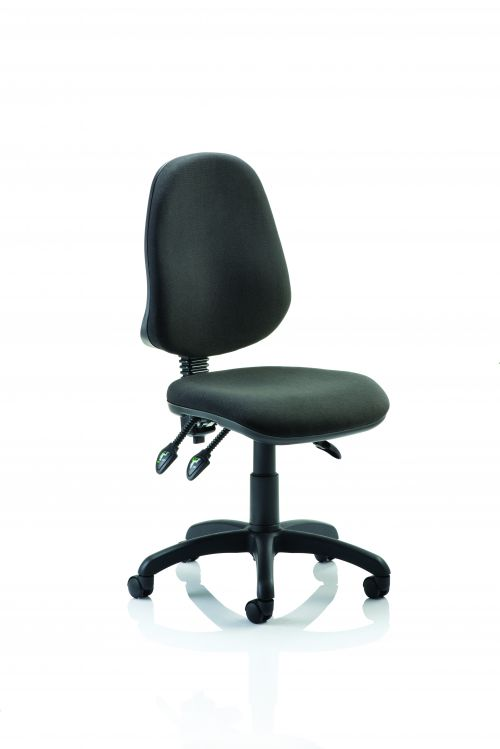 Eclipse III Lever Task Operator Chair Black Without Arms
