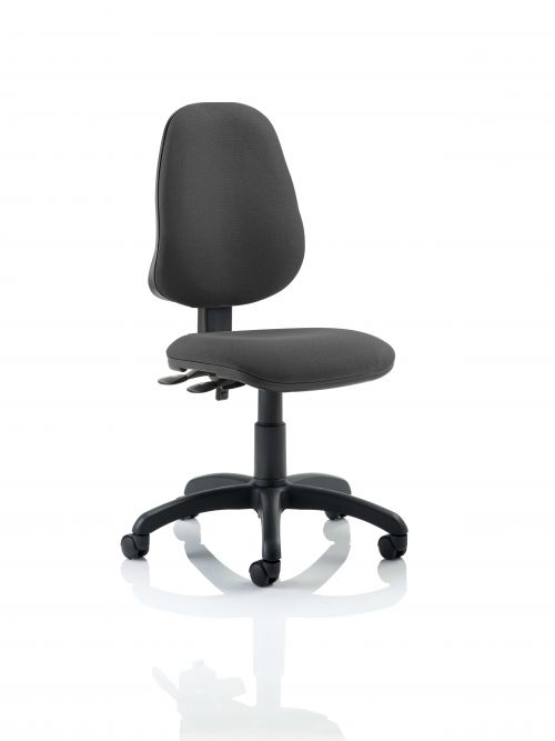 Eclipse III Lever Task Operator Chair Charcoal Without Arms