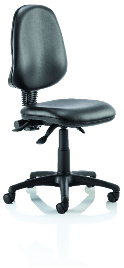Eclipse III Lever Task Operator Chair Vinyl Black Without Arms