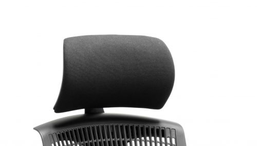 Flex Headrest Black Shell Black Fabric
