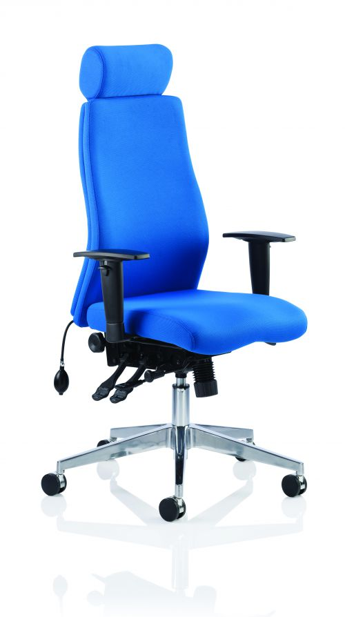 Onyx Blue Fabric With Headrest With Arms OP000096