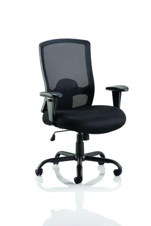 Portland HD Task Operator Chair Black Mesh With Arms