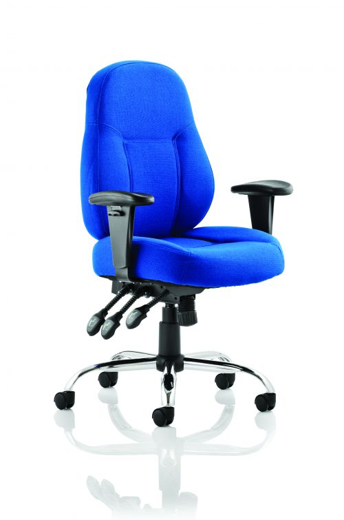 Storm Task Operator Chair Blue Fabric With Arms