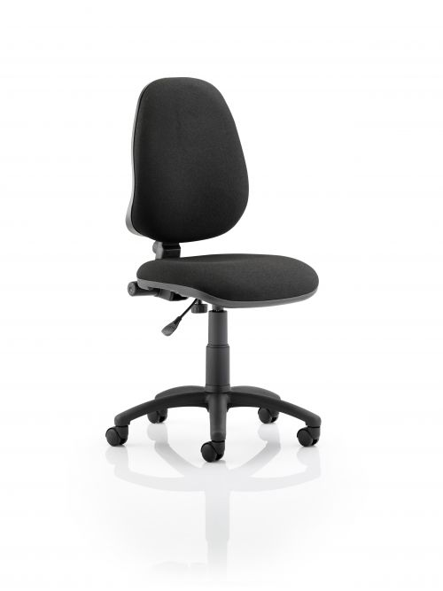 Eclipse I Lever Task Operator Chair Black Without Arms