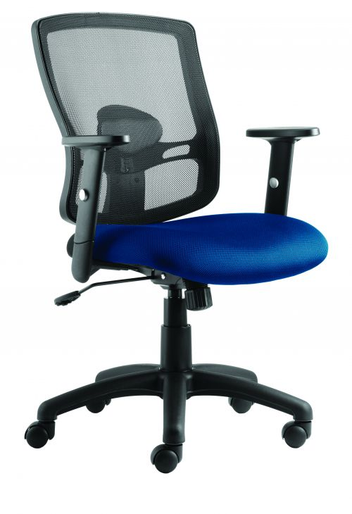 Portland Chair Blue Seat With Arms OP000219