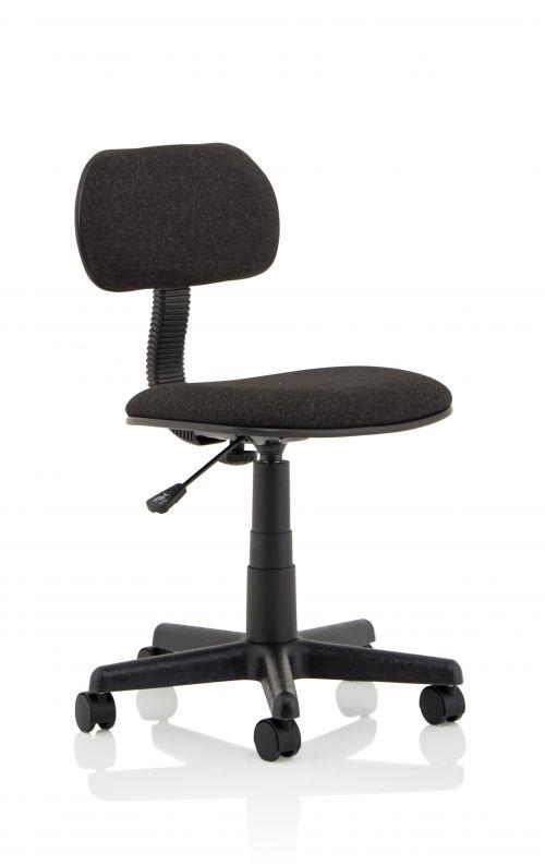 Clerk Black Fabric Typist Chair