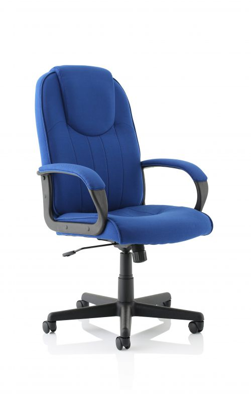 Lincoln Royal Blue Fabric Executive Chair