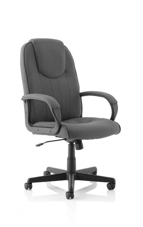 Lincoln Charcoal Fabric Executive Chair