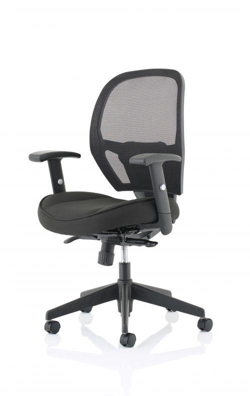 Denver Black Mesh Chair No Headrest OP000234