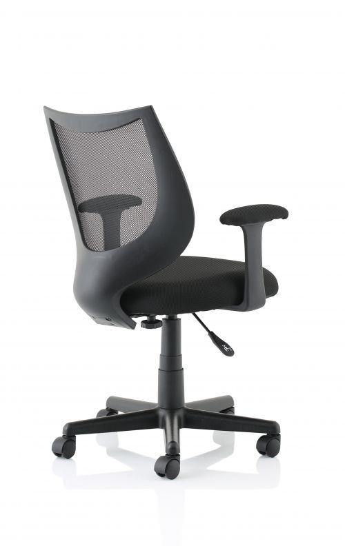 Camden Black Mesh Chair