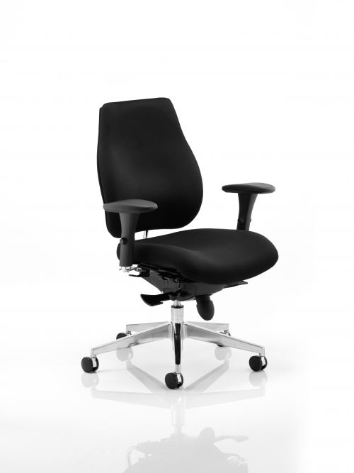 Chiro Plus Chair Black with Arms PO000001