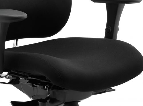Chiro Plus Ergo Posture Chair Black With Arms