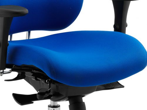Chiro Plus Ergo Posture Chair Blue With Arms With Headrest