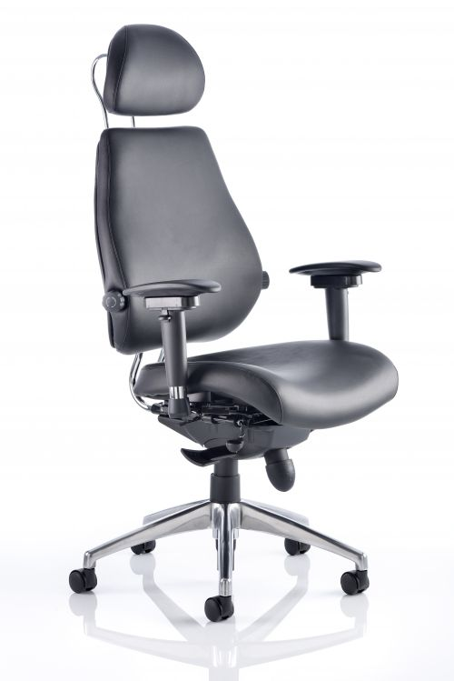 Chiro Plus Ultimate Chair Black Leather PO000013