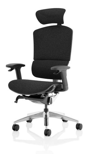 Ergo Click Plus Chair Black FabriMesh With Headrest PO000062