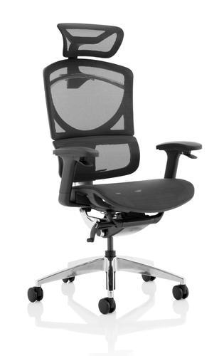 Ergo Click Plus Chair Black Mesh with Headrest PO000063