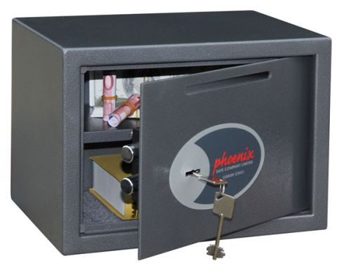 Phoenix Vela Deposit Home & Office SS0802KD Size 2 Security Safe with Key Lock