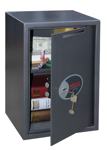 Phoenix Vela Deposit Home & Office SS0804KD Size 4 Security Safe with Key Lock