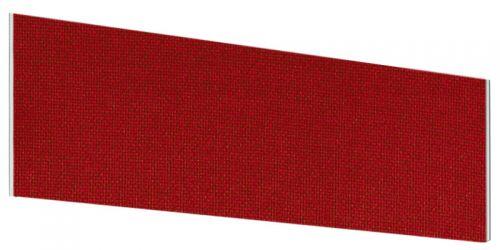 Impulse Plus Angle 450/600 Desktop Screen Burgundy Fabric Light Grey Edges