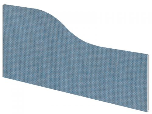 Impulse Plus Wave 450/800 Desktop Screen Sky Blue Fabric Light Grey Edges