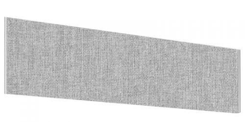 Impulse Plus Angle 450/1000 Desktop Screen Light Grey Fabric Light Grey Edges