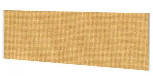 Impulse Plus Oblong 450/1200 Desktop Screen Beige Fabric Light Grey Edges