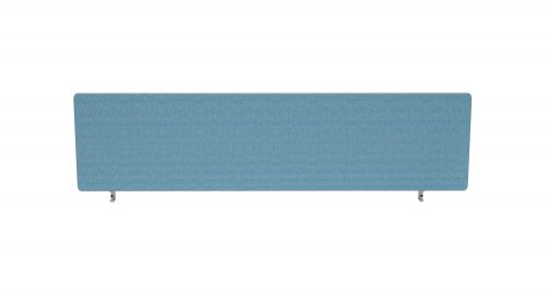 Impulse Plus Oblong 450/1400 Desktop Screen Sky Blue Fabric Light Grey Edges