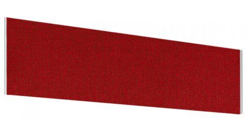 Impulse Plus Angle 450/1400 Desktop Screen Burgundy Fabric Light Grey Edges