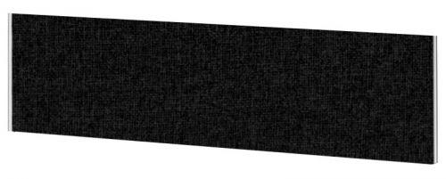Impulse Plus Oblong 450/1500 Desktop Screen Black Fabric Light Grey Edges