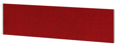 Impulse Plus Oblong 450/1500 Desktop Screen Burgundy Fabric Light Grey Edges