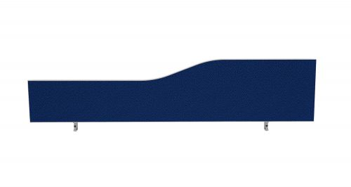 Impulse Plus Wave 450/1600 Desktop Screen Powder Blue Fabric Light Grey Edges